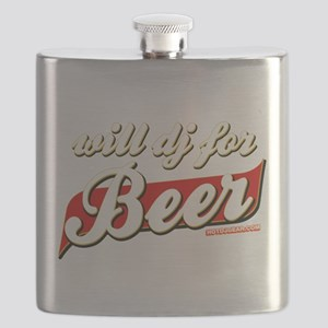 Will DJ For Beer Flask