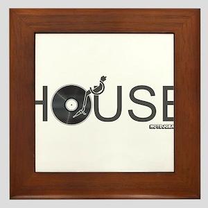 House Vinyl Framed Tile