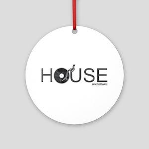 House Vinyl Ornament (Round)