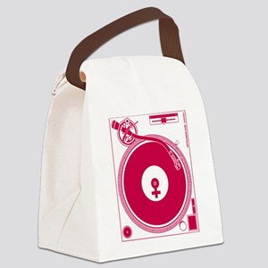 Female Turntable Canvas Lunch Bag