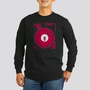 Female Turntable Long Sleeve Dark T-Shirt