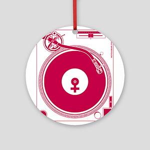 Female Turntable Ornament (Round)
