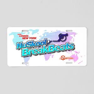 NuSkool BreakBeats Aluminum License Plate