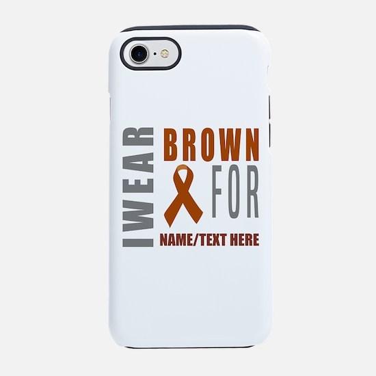 Brown Awareness Ribbon iPhone 7 Tough Case
