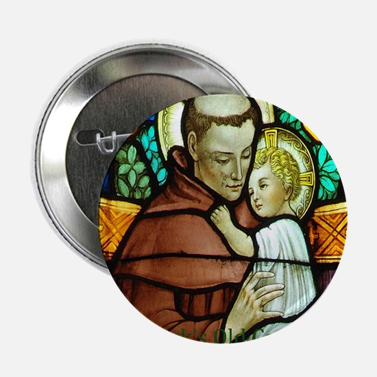 """St Anthony 2.25"""" Button"""