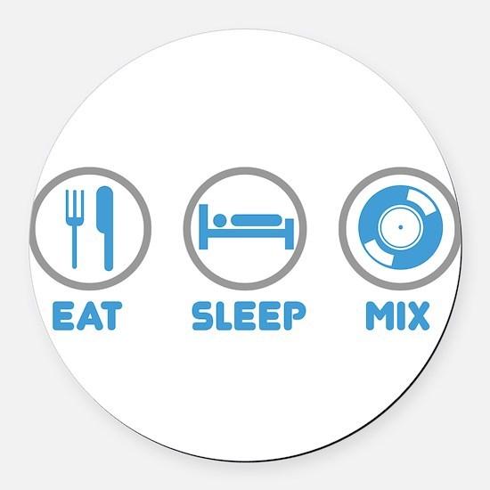 Eat Sleep Mix Again Round Car Magnet