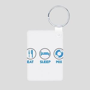 Eat Sleep Mix Again Aluminum Photo Keychain