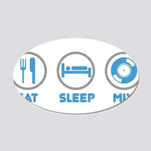 Eat Sleep Mix Again 20x12 Oval Wall Decal