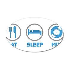 Eat Sleep Mix Again Wall Decal