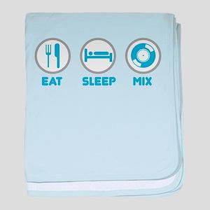 Eat Sleep Mix Again baby blanket