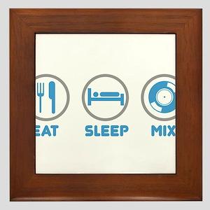Eat Sleep Mix Again Framed Tile