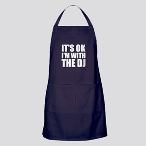 It's OK I'm With The DJ Apron (dark)