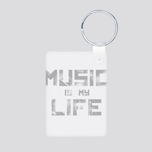 Music Is My Life Aluminum Photo Keychain