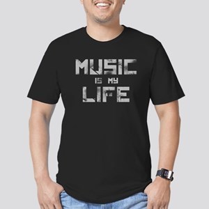 Music Is My Life Men's Fitted T-Shirt (dark)