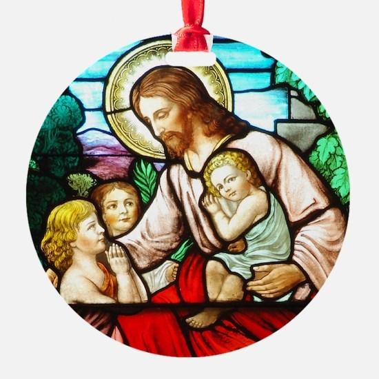 Jesus Blessing The Children Ornament
