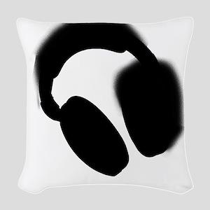 Headphones Woven Throw Pillow
