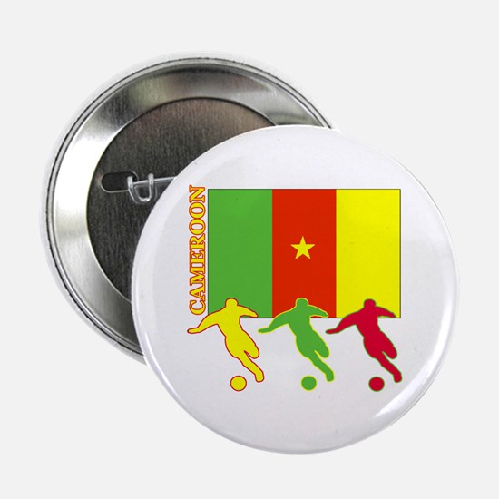 "Cameroon Soccer 2.25"" Button (10 pack)"