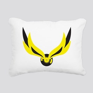 wingedrecord Rectangular Canvas Pillow