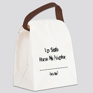 phonenumber Canvas Lunch Bag