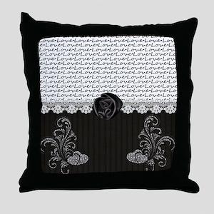 Elegant Love Throw Pillow