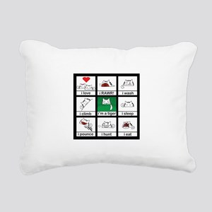 tigercat Rectangular Canvas Pillow
