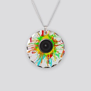 See The Music! Necklace Circle Charm