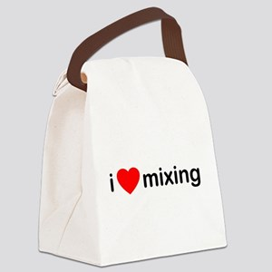 I Heart Mixing Canvas Lunch Bag