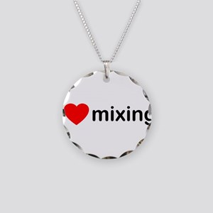 I Heart Mixing Necklace Circle Charm