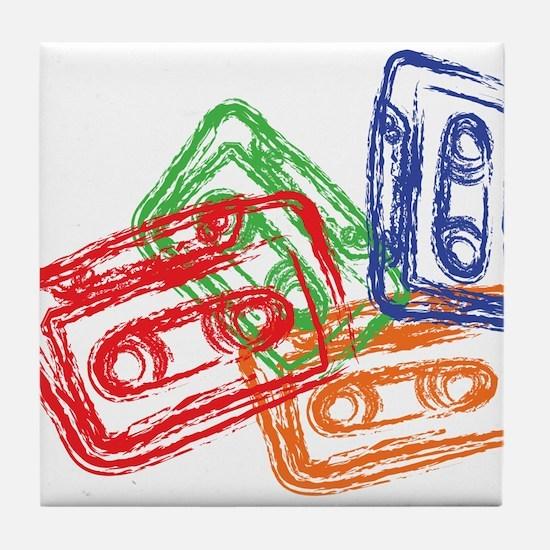 Cute Mix tape Tile Coaster