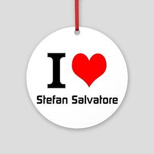I love Stefan Salvatore Ornament (Round)