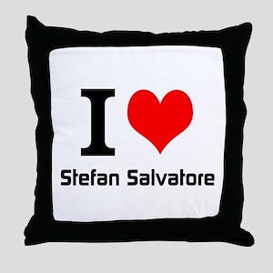 I love Stefan Salvatore Throw Pillow