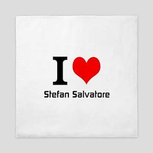 I love Stefan Salvatore Queen Duvet