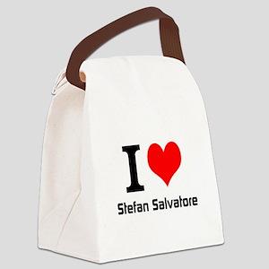 I love Stefan Salvatore Canvas Lunch Bag
