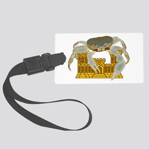 Crabs over Castles Large Luggage Tag