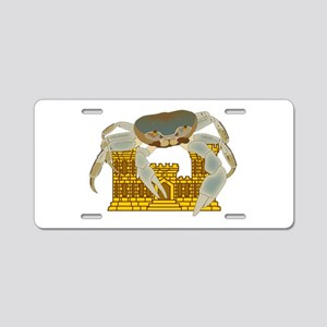 Crabs over Castles Aluminum License Plate