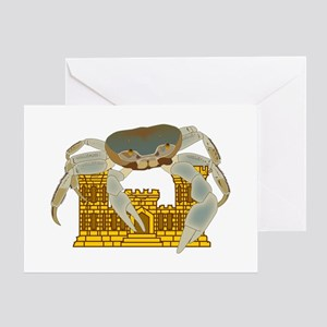 Crabs over Castles Greeting Card