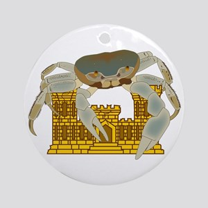Crabs over Castles Ornament (Round)