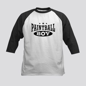 Paintball Boy Kids Baseball Jersey