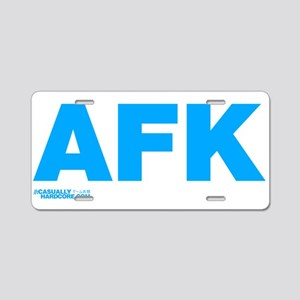 AFK Aluminum License Plate