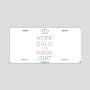 Keep Calm And Rage Quit Aluminum License Plate