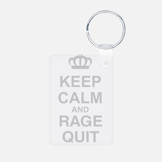 Keep Calm And Rage Quit Keychains