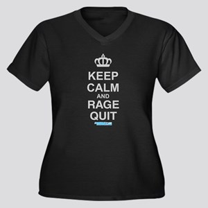 Keep Calm And Rage Quit Women's Plus Size V-Neck D