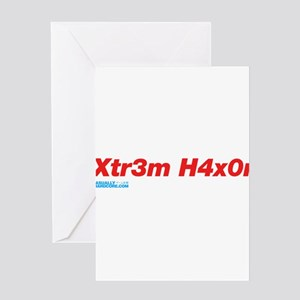 Xtr3m H4xor Greeting Card