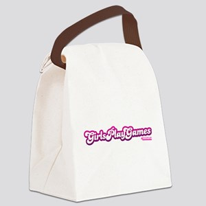 Girls Play Games Canvas Lunch Bag