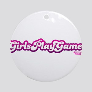 Girls Play Games Ornament (Round)