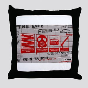 In Case Of Zombie Apocalypse Throw Pillow