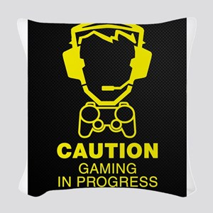 Gaming In Progress Woven Throw Pillow