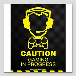 "Gaming In Progress Square Car Magnet 3"" x 3"""