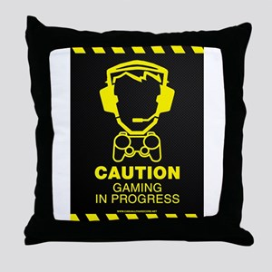 Gaming In Progress Throw Pillow
