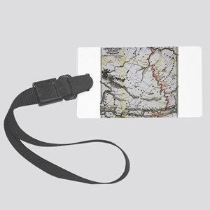 Railroad Map Luggage Tag